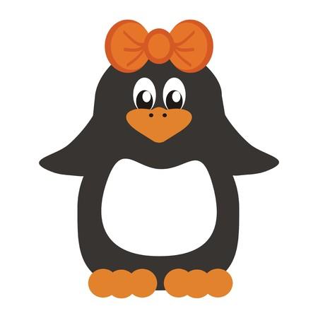 nice penguin on white background