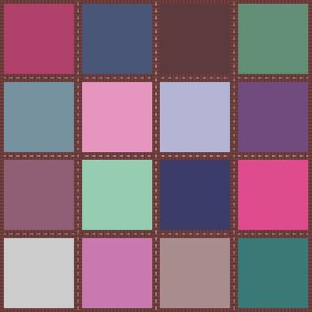 patchwork background with different patterns Imagens - 95184728