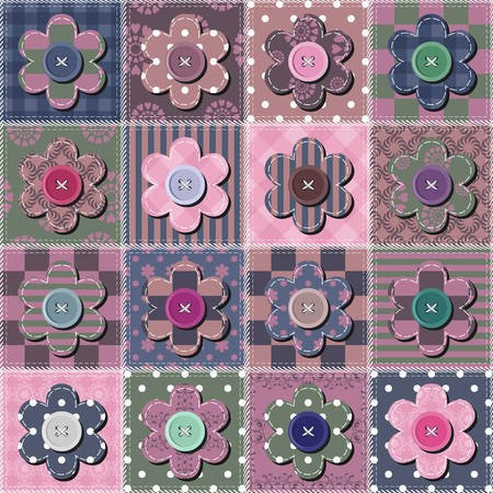 Creative patchwork background with different patterns