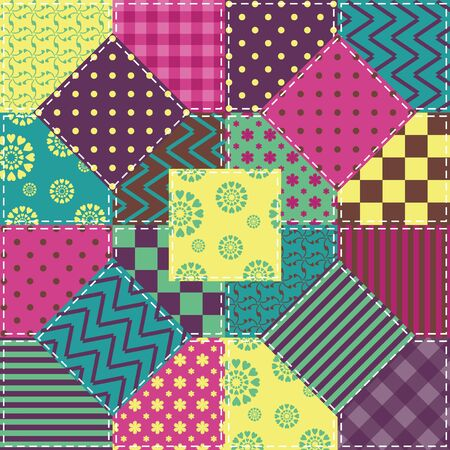 Patchwork with different patterns