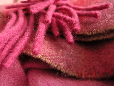 Pretty Irish wool scarf in balanced layers.