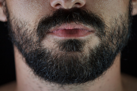 sexual anatomy: Beard and bottom part of a man