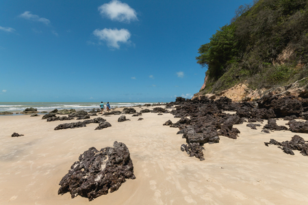 Madeiro Beach, located in Pipa district is a famous beach in Brazil Stock Photo