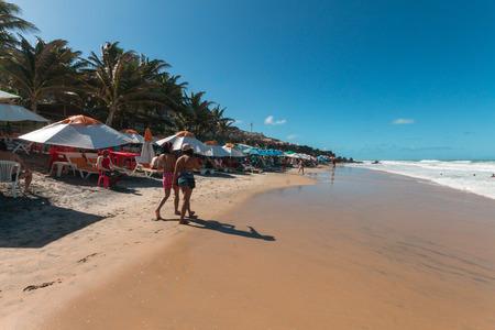 Tibau do Sul, Rio Grande do Norte, Brazil - October 16, 2016 - Love Beach, located in Pipa district is a famous beach in Brazil