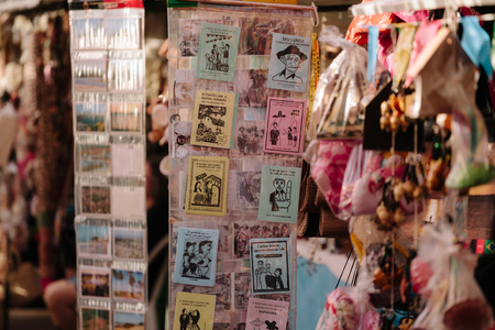 poems: Cabedelo, Paraiba, Brazil - June 19, 2017 - Cordel literature are popular and inexpensively printed booklets or pamphlets containing folk novels, poems and songs