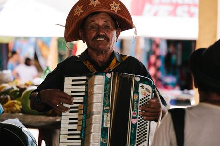 Picui, Paraiba, Brazil - June 3, 2017 - Forro musician - genre of Brazilian music that originated in Northeastern Brazil Editorial