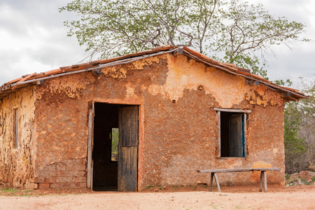 Typical mud house of the poor regions of the countryside of Brazil