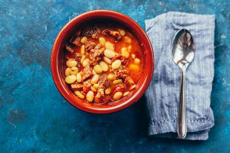 Brazilian cuisine. Favada - Fava Bean Beef Stew