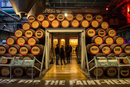 DUBLIN, Irland - 7. FEBRUAR 2017: Besucher Guinness Storehouse Editorial