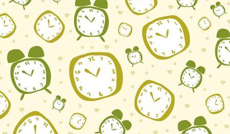 cute clock background