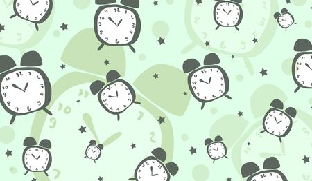 cute clock background