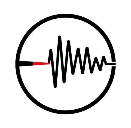 Earthquake background. seismogram for seismic measurement. Vettoriali