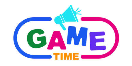 Game time with creative font design.