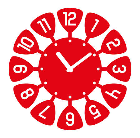 Cheerful wall clock with cute numbers.  イラスト・ベクター素材