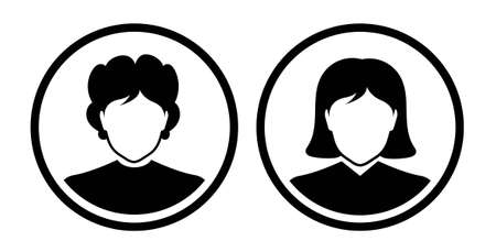 woman icon on white background Çizim