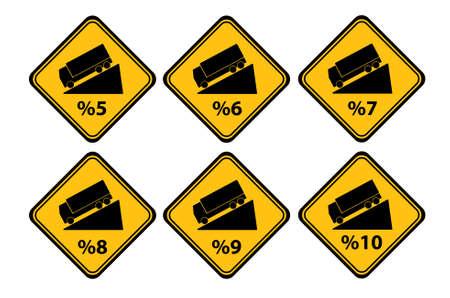 downgrade sign on white background Çizim