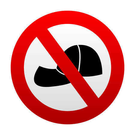 No cap and hat prohibition sign