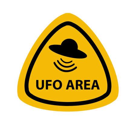 ufo area sign on white background Illusztráció