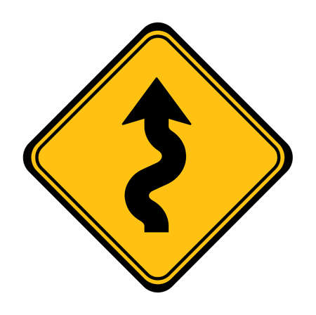 winding sign on white background 向量圖像