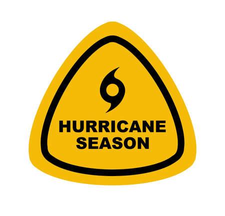 hurricane ahead sign on white background
