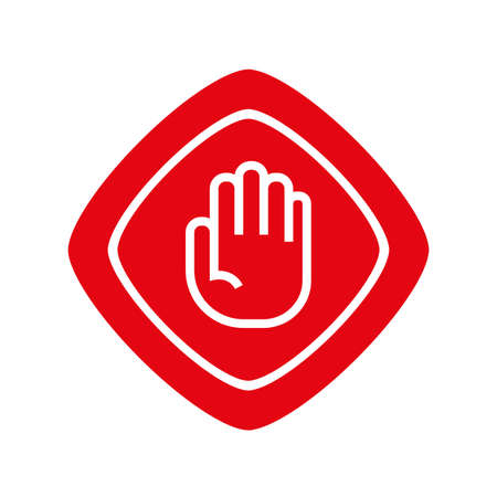 stop sign on white background. icon.