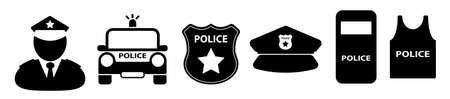 police icon on white background Ilustração