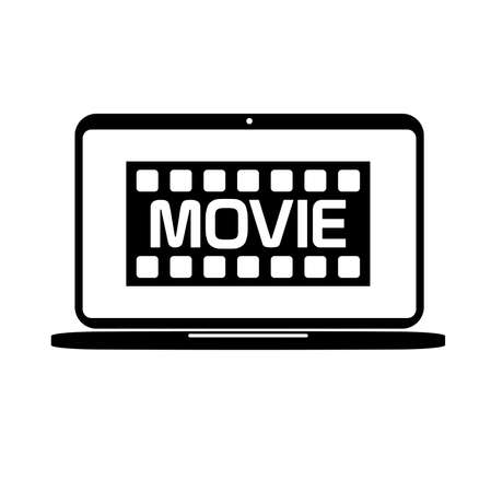 online movie icon on white background