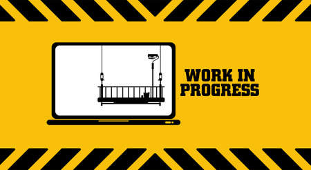 Website is under construction on warning sign.