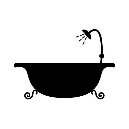 bath icon on white background Illusztráció