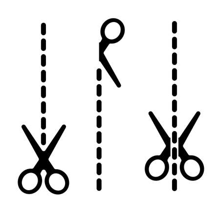 cuting scissors icon on white background
