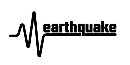 Earthquake icon. seismogram for seismic measurement