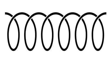 Spiral icon on white background