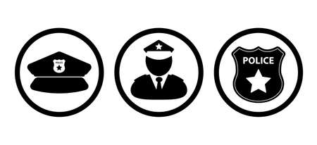 police icon on white background Ilustração