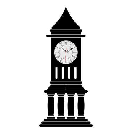 Historical clock tower. Vector design.