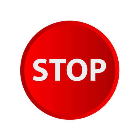 Red stop sign. Vector icon Stock Illustratie