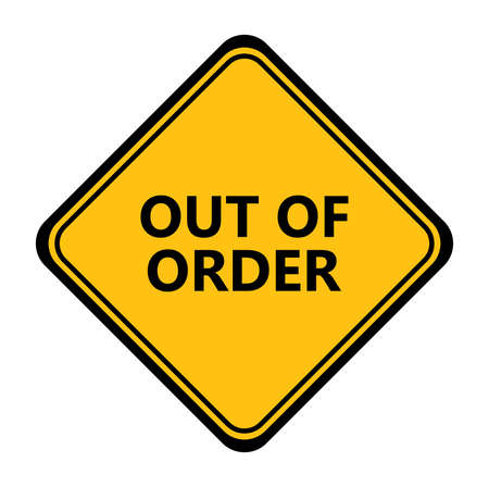 Yellow out of order vector sign