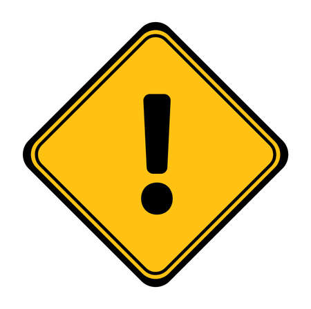 traffic sign attention. Vector icon.