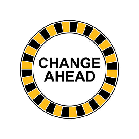 change ahead sign. vector icon Çizim