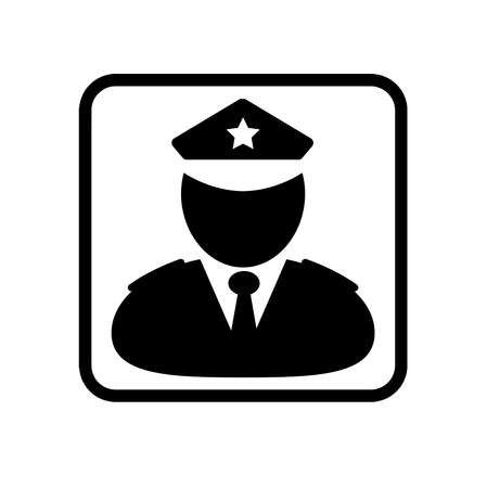 police man icon on white background