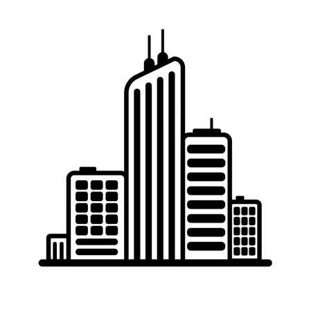 city icon on white background 向量圖像