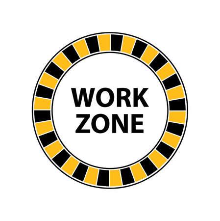work zone sign on white background