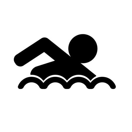 swim icon on white background