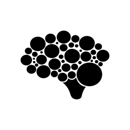brain icon on white background 일러스트