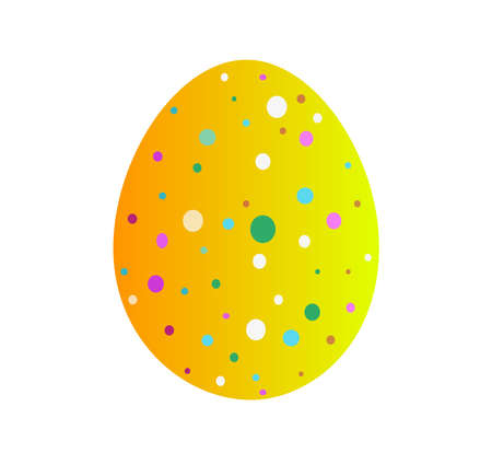 easter egg on white background