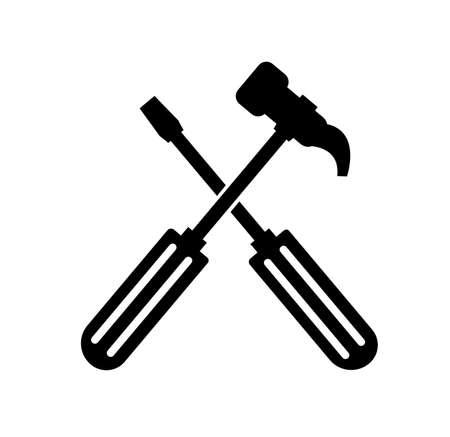 repair icon on white background Stok Fotoğraf - 155686101