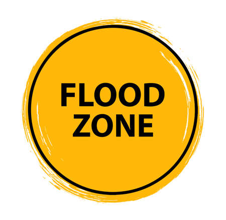 flood zone sign on white background