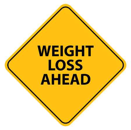 weight loss ahead sign vector