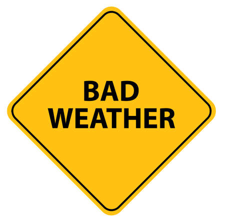 bad weather sign on white background
