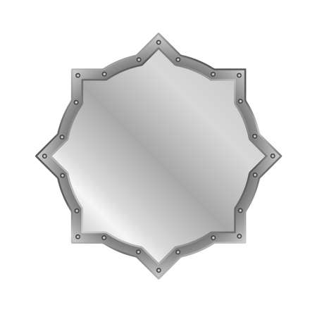 silver frame on white background 免版税图像 - 155664026