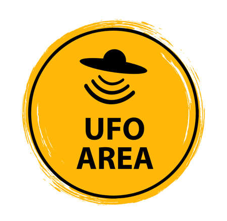 ufo area sign on white background Vettoriali